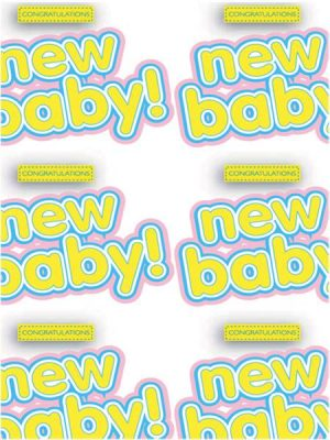 Congratulations New Baby Wrapping Paper