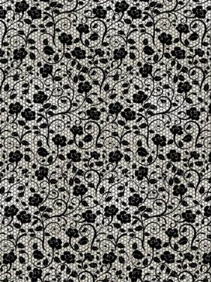 Black Lace Wrapping Paper
