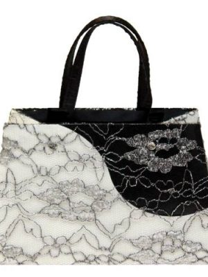 Lace Contrast Luxury Gift Bag - Size Medium
