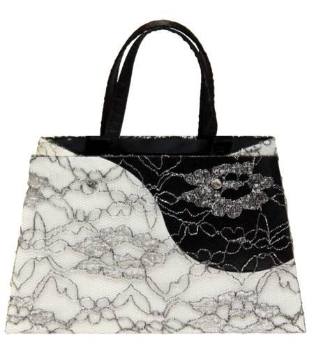 Lace Contrast Luxury Gift Bag - Size Medium