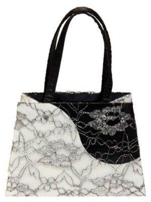 Lace Contrast Luxury Gift Bag - Size Small