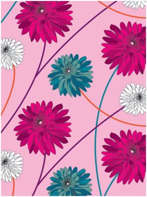 Dahlia Vibrant Wrapping Paper