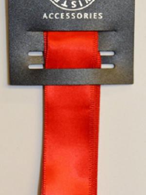 Wire Edge Taffeta Red Ribbon