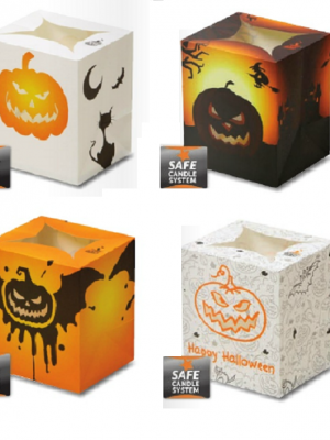Halloween Luminary Candle Bags Minipack (Set 1 - Pack of 4)