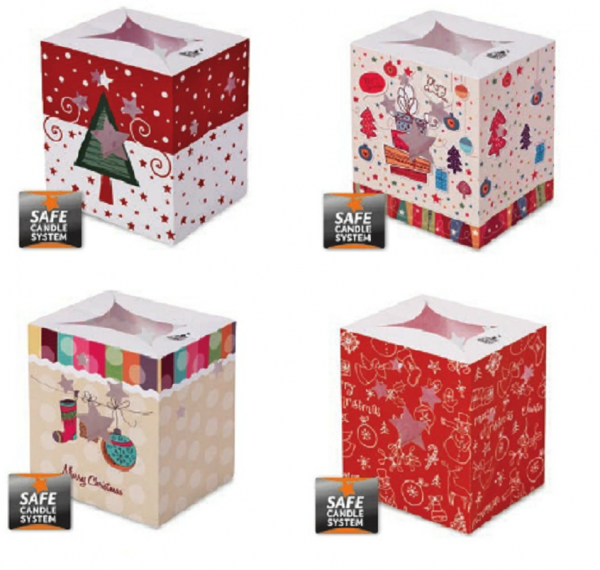 Christmas Luminary Candle Bags (Set 4 - Pack of 4)
