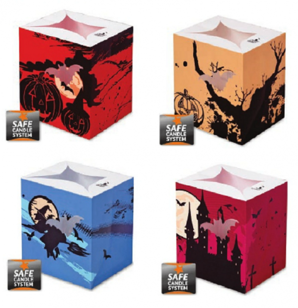 Halloween Luminary Candle Bags Minipack (Set 2 - Pack of 4)