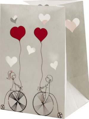 Bicycle's Lovers Candle Luminary Bags - Love Edition