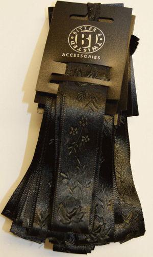 Black Jacquard Ribbon