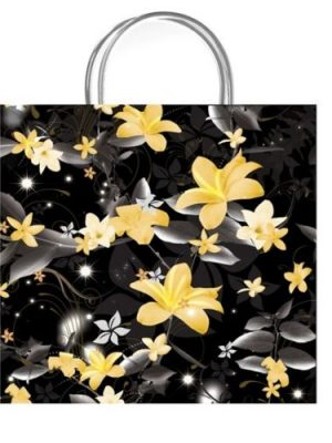 Paradise Black Luxury Gift Bag - Size Small