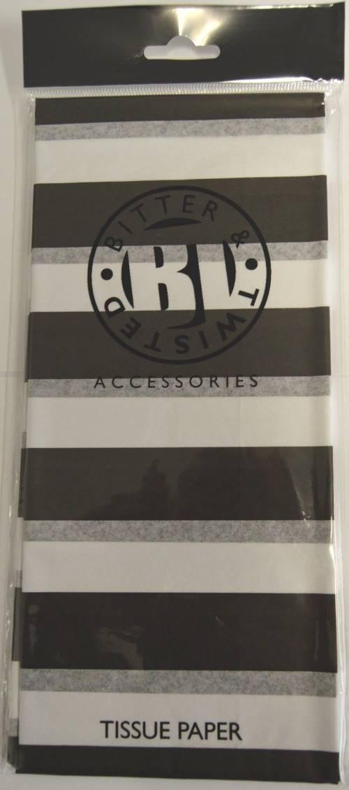 Black & White Stripe Tissue Paper