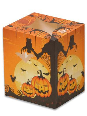 Scary Pumpkin Gathering Luminary Candle Bags - Halloween Edition