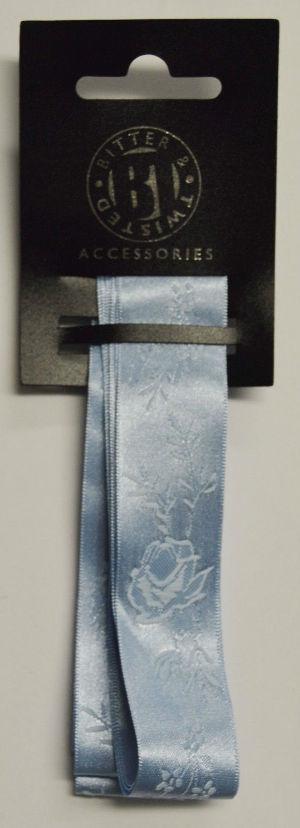 Blue Jacquard Ribbon
