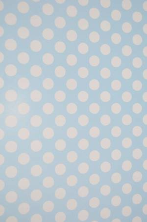 Polka Dot Blue Wrapping Paper