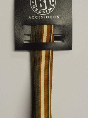 Brown & Cream Stripy Ribbon