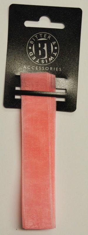 Chiffon Baby Pink Ribbon