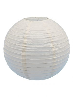 Ivory Chinese Paper Lantern - 16 Inch