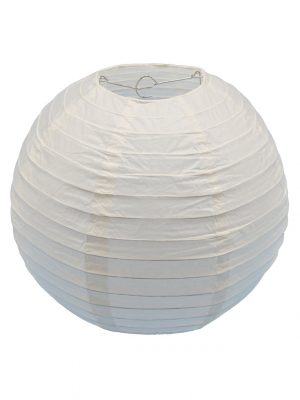 Ivory Chinese Paper Lantern - 12 Inch