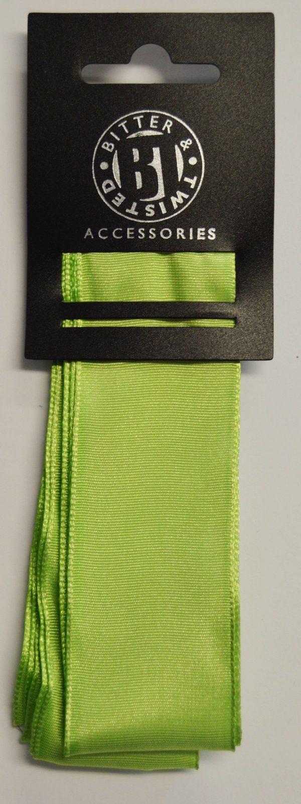 Wire Edge Lime Taffeta Ribbon