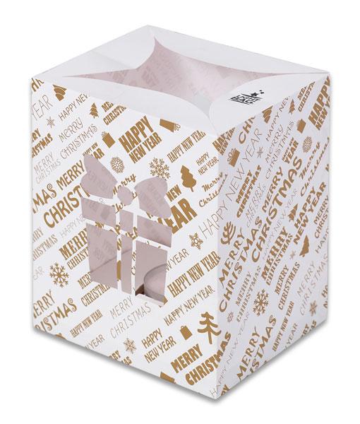 Gold Present Christmas Luminary Candler Bags - Christmas Edition