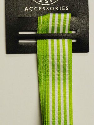 Green Block Stripes Ribbon