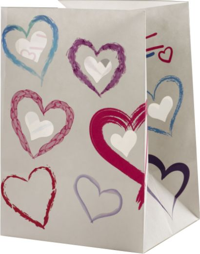 Heart Shapes Luminary Candle Bags - Love Edition
