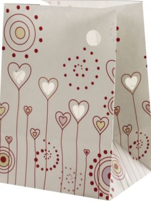 Hearts and Flowers Luminary Candle Bags - Love Edition