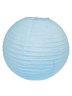 Light Blue Chinese Paper Lantern - 16 Inch