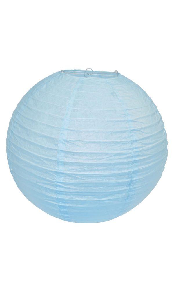 Light Blue Chinese Paper Lantern - 16 Inch