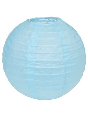 Light Blue Chinese Lantern - 12 Inch