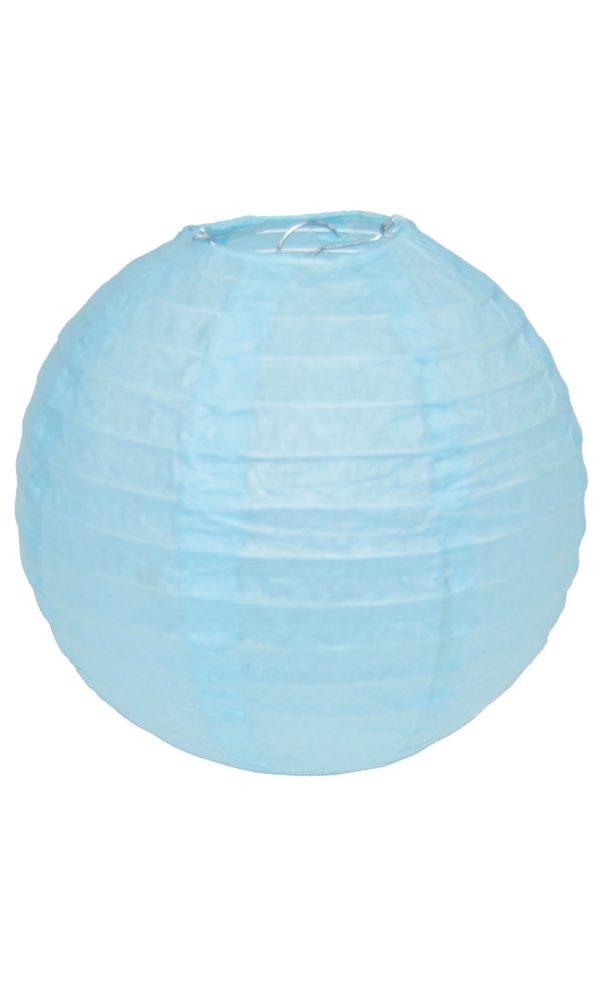 Light Blue Chinese Lantern - 12 Inch