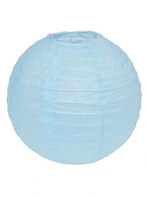 Light Blue Chinese Lantern - 8 Inch