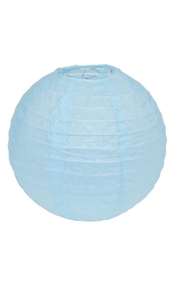 Light Blue Chinese Lantern - 8 Inch