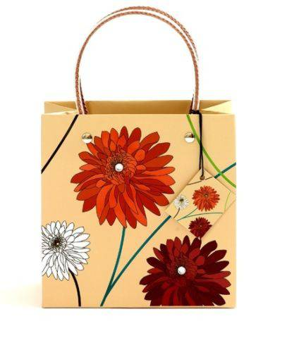 Dahlia Natural Luxury Gift Bag - Size Medium