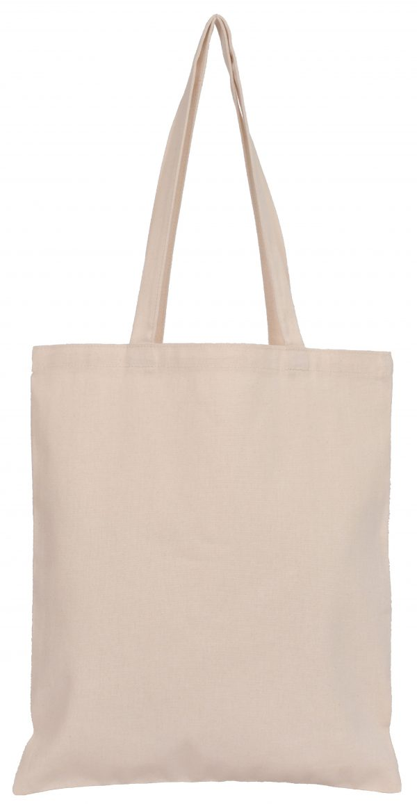 Natural Cotton Tote Bags 140gsm Matching Handles 38x40cms