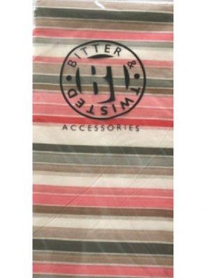 Pink & Grey Stripe Tissue Paper