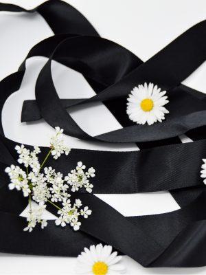 Satin Black Ribbon
