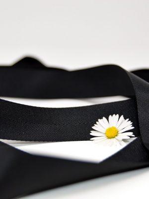 Poly Twill Black Ribbon