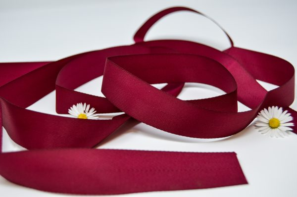 Poly Twill Wine Ribbon