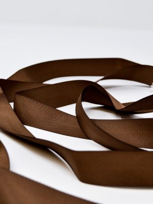 Poly Twill Brown Ribbon
