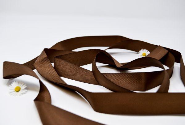 Poly Twill Brown Ribbon