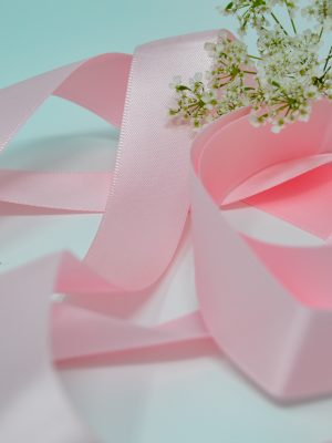 Satin Baby Pink Ribbon