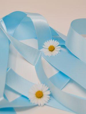 Satin Baby Blue Ribbon