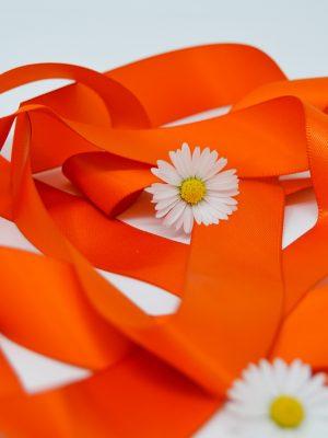 Satin Orange Ribbon