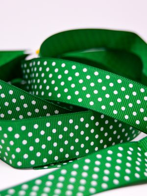 Green Small Polka Dot Ribbon
