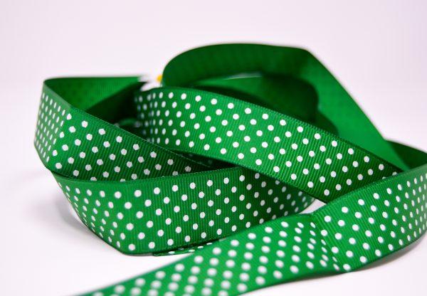 Green Small Polka Dot Ribbon
