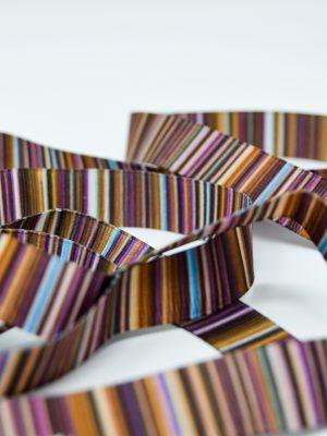 Stripy Brown Ribbon