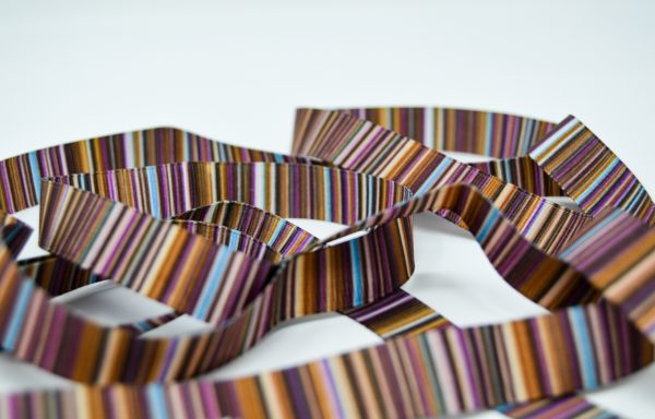 Stripy Brown Ribbon