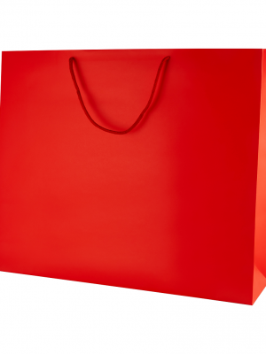 Red Matt Boutique Paper Carrier Bags with Rope Handles (XL) 50cm wide
