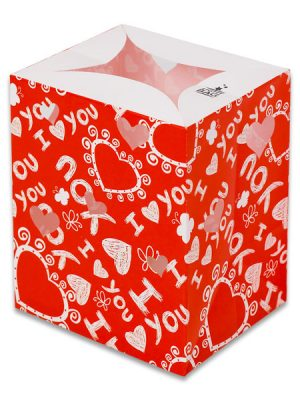 "Red ""I Love You"" Luminary Candle Bags - Love Edition"