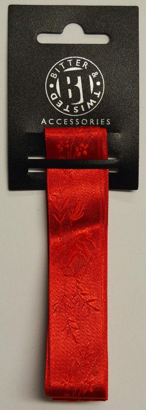 Red Jacquard Ribbon